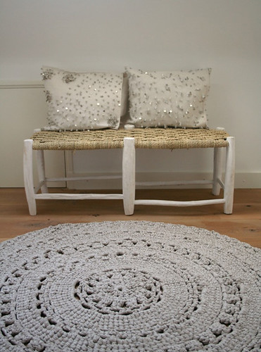 crocheted rugs | by the style files