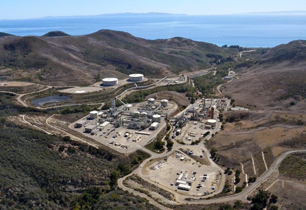 Las Flores Canyon Facility And Harmony Oil Platform Santa