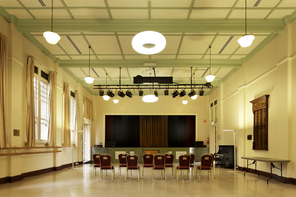 Hamilton Town Hall Hall And Stage Hall Stage And
