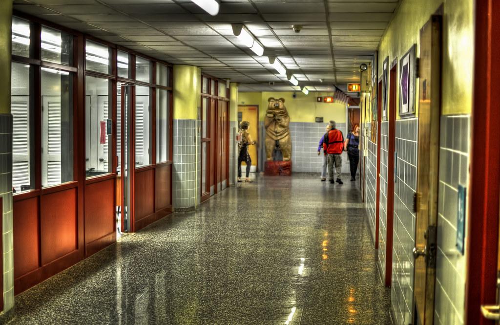 High School hallway | North Bergen High School in North ...