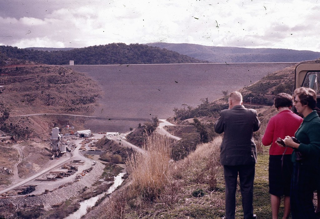 The Dam Wall At Lake Eucumbene 1963 Back In 1963 My