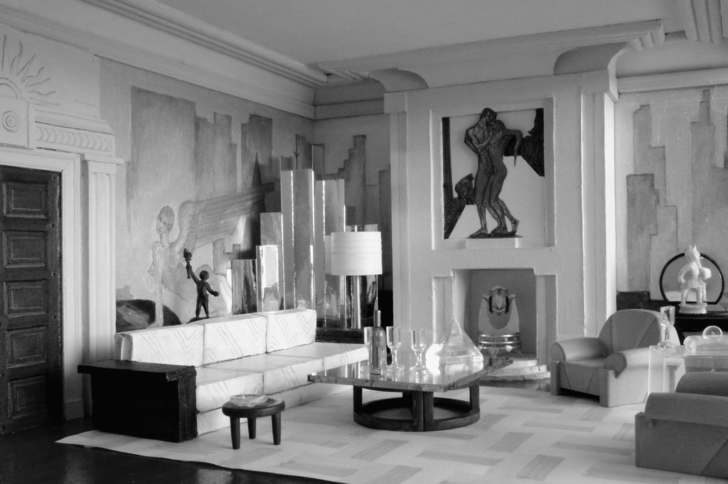Old movie i fell in love with a series of black and for Art deco interior design 1930