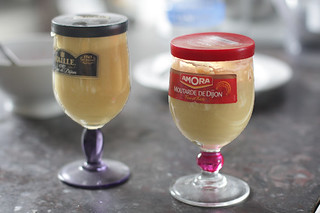 Dijon mustard glasses | by David Lebovitz