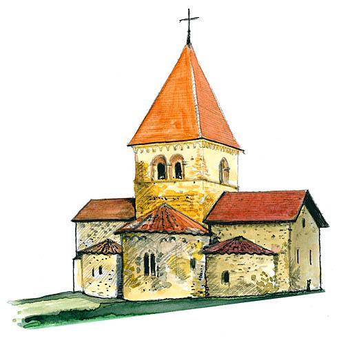 Eglise romane de st sulpice vd suisse de toutes les - Eglise dessin ...