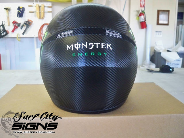 Monster Energy Carbon Fiber Helmet Wrap Back Carbon