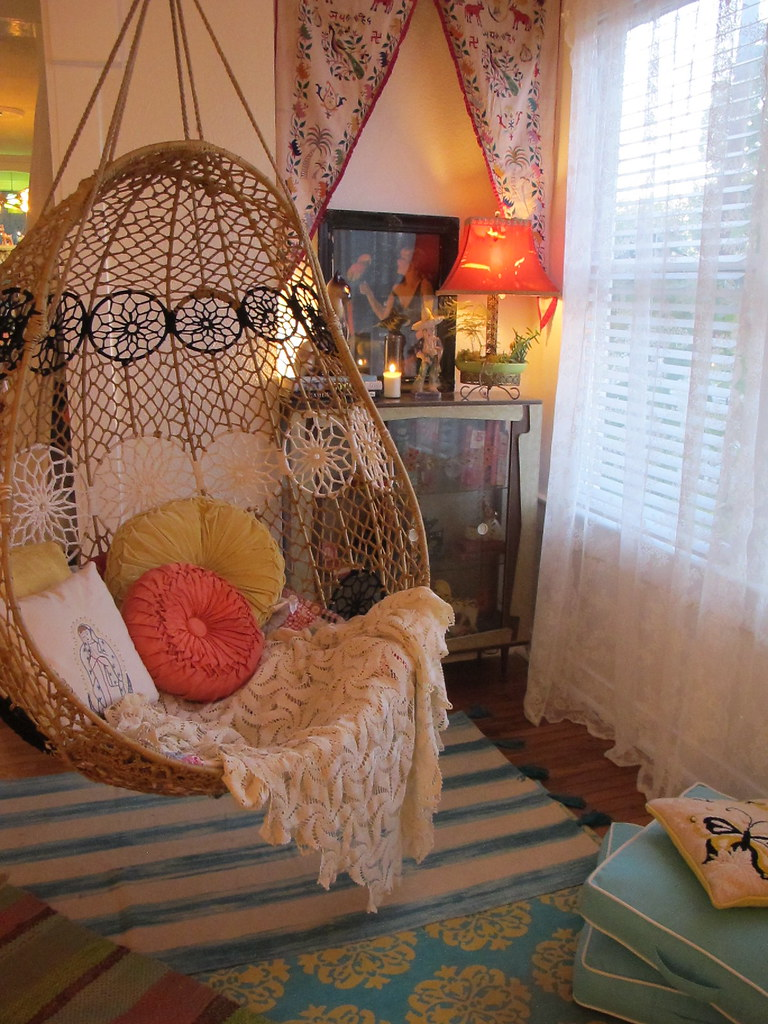 ... Anthropologie Knotted Melati Hanging Chair | By Valeriekathryn