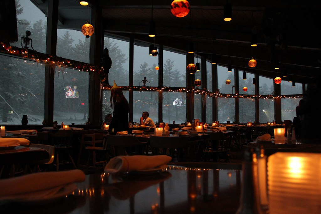 Halloween themed restaurant during snowstorm the outlook r… flickr