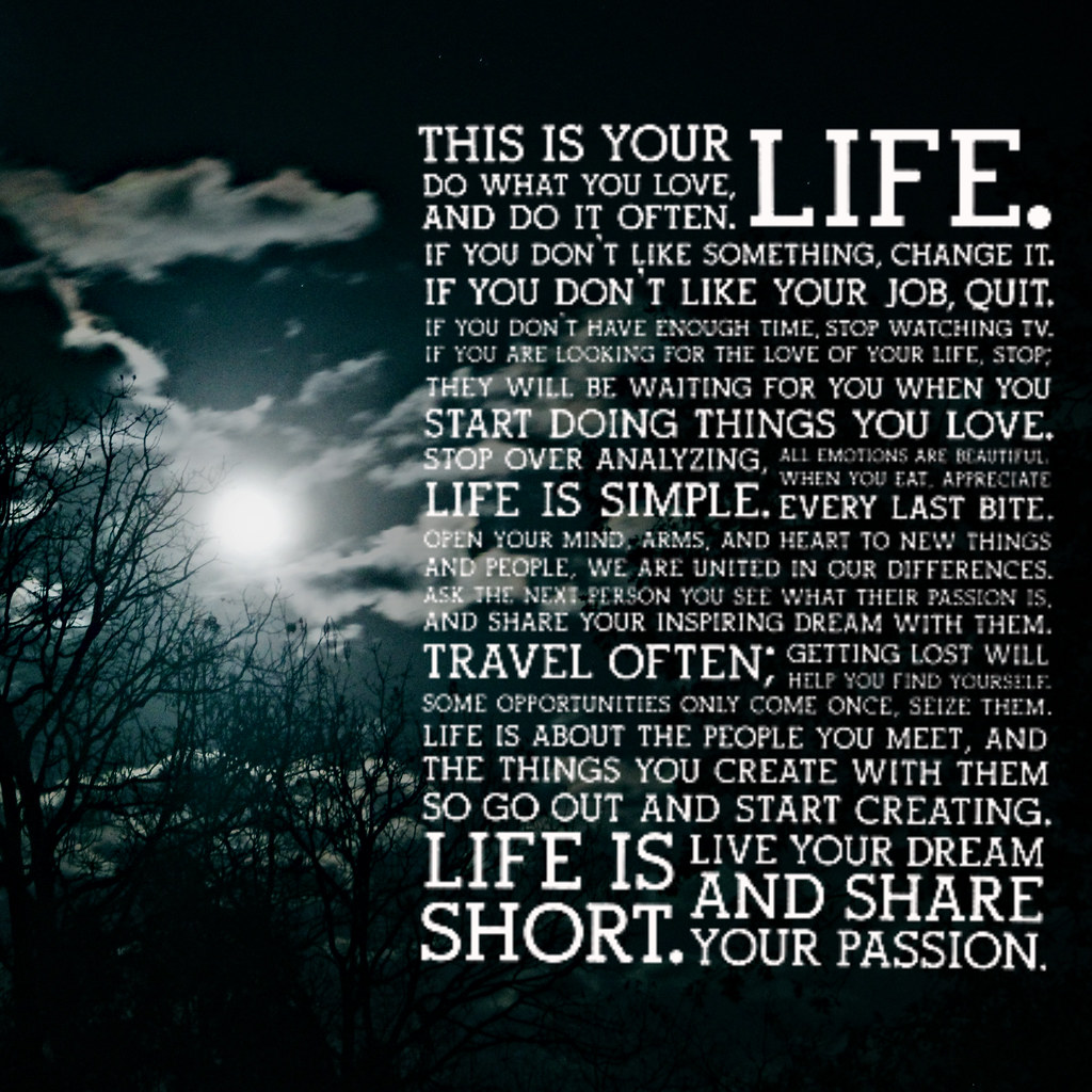 This Is Your Life Quote This Is Your Life Krissy Venosdale  Flickr