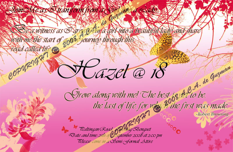 Invitation card debut layout invitationswedd 18th bday invitation card for other guess invita flickr stopboris Image collections