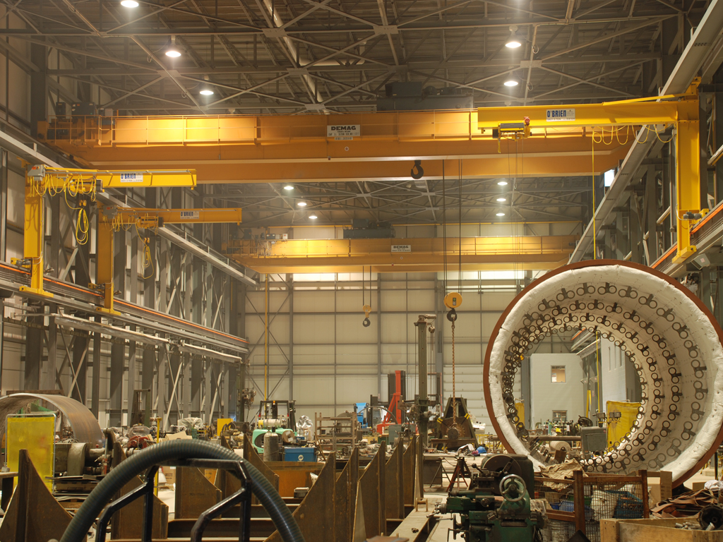 Wall Traveling Jib Cranes With An Overhead Crane System