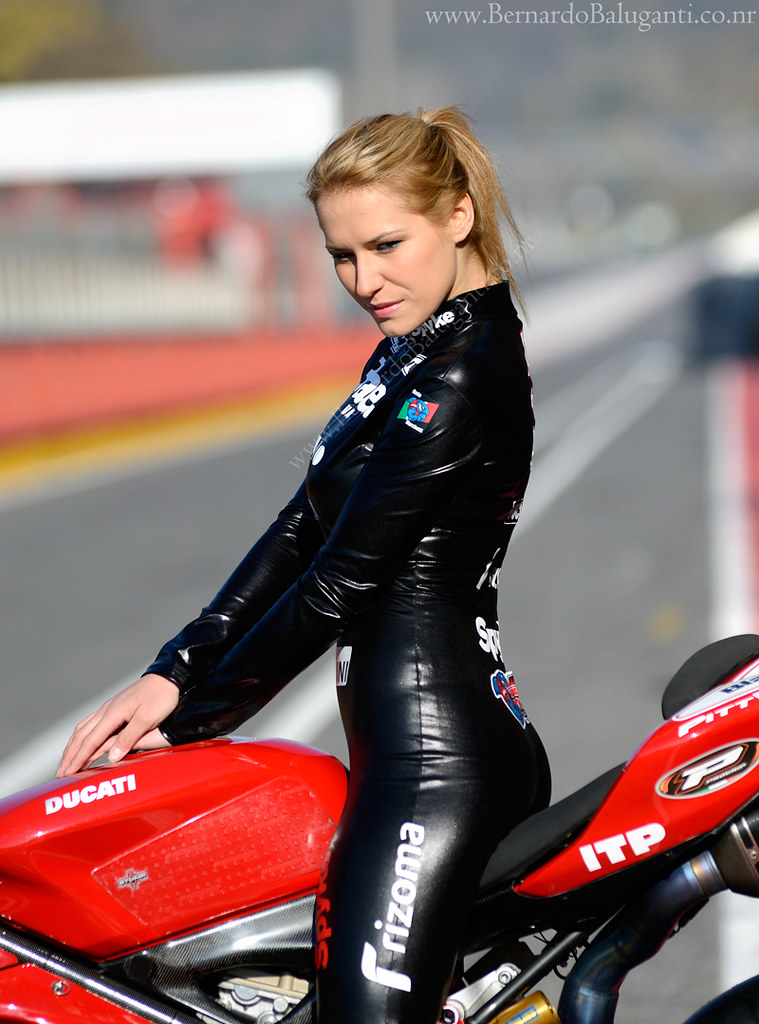 Umbrella Girl In Latex Riding A Ducati 1198R - 200 Miglia   Flickr-7438
