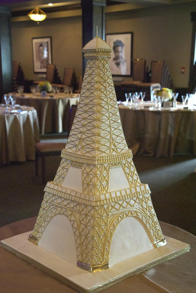 Свадебные торты в виде эйфелевой башни фото