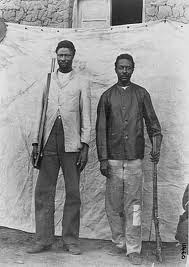 Samuel and Julius Maherero, leaders of the Herero rebellion against German imperialism in 1904. The Germans, in retaliation, killed 60,000 Africans and enslaved many more for over 80 years. | by Pan-African News Wire File Photos