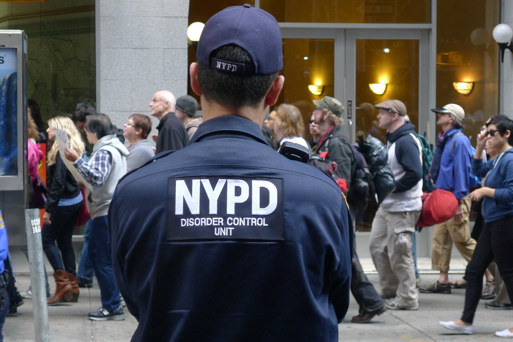 nypd disorder control unit at an occupy wall street