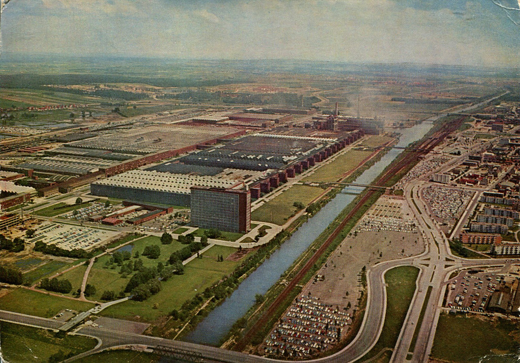 Wolfsburg - Volkswagen Plant (Postcard) | An air view of the… | Flickr
