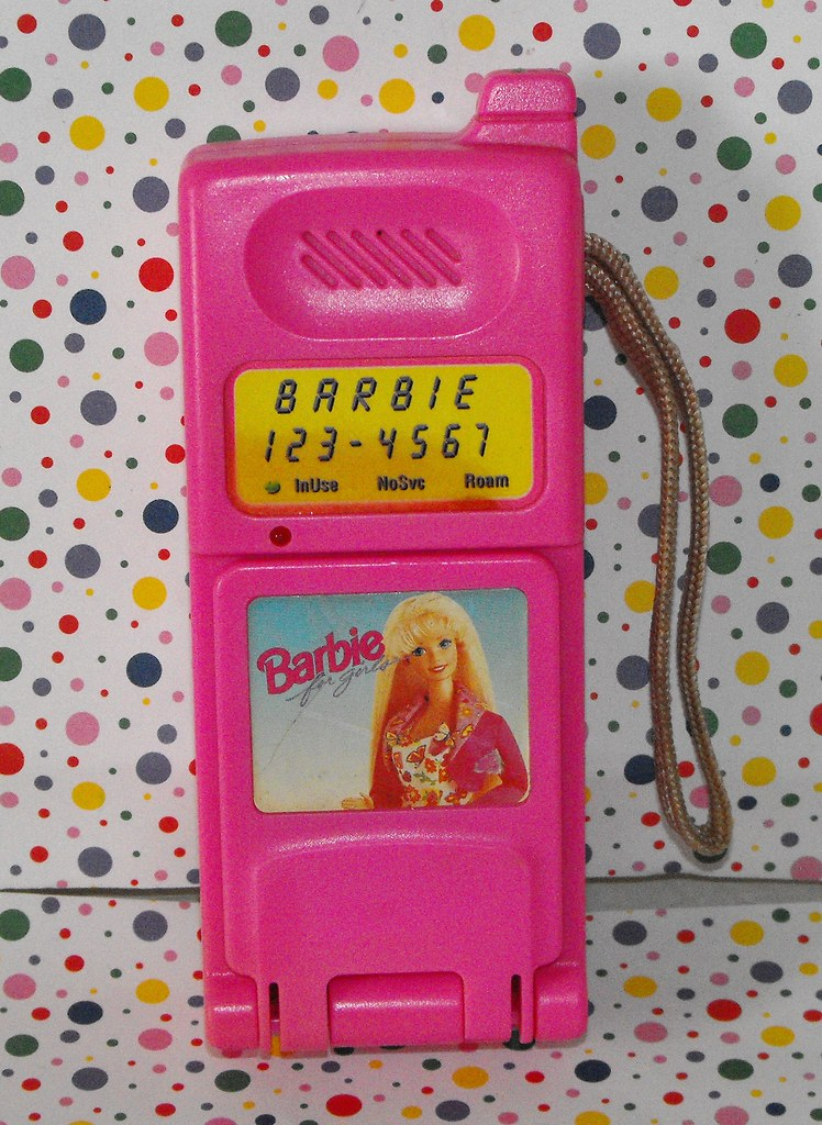 Barbie Toy Phone : Sold barbie super talking flip phone copy find this