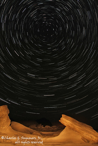 Star trails reveal their circular patterns over Toadstool State Park CGS13943-CGS14020 | by WildImages