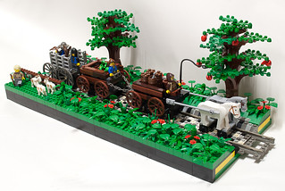 Lego Wagon Train Landscape | by Matt_Henry_Aus