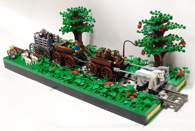 Click It Rv >> Lego Wagon Train Landscape   Flickr - Photo Sharing!