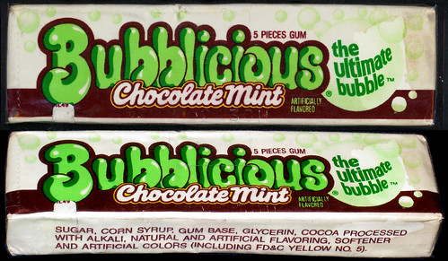 Bubblicious - Chocolate Mint- bubble gum pack - late 1980's early 1990's | by JasonLiebig