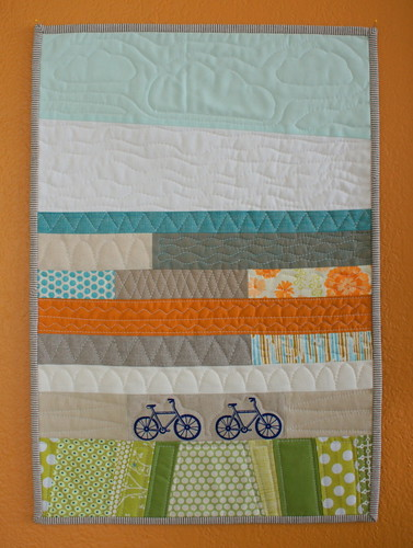 bitty bike quilt for Suzanne | by Spotted Stone Studio {Krista}