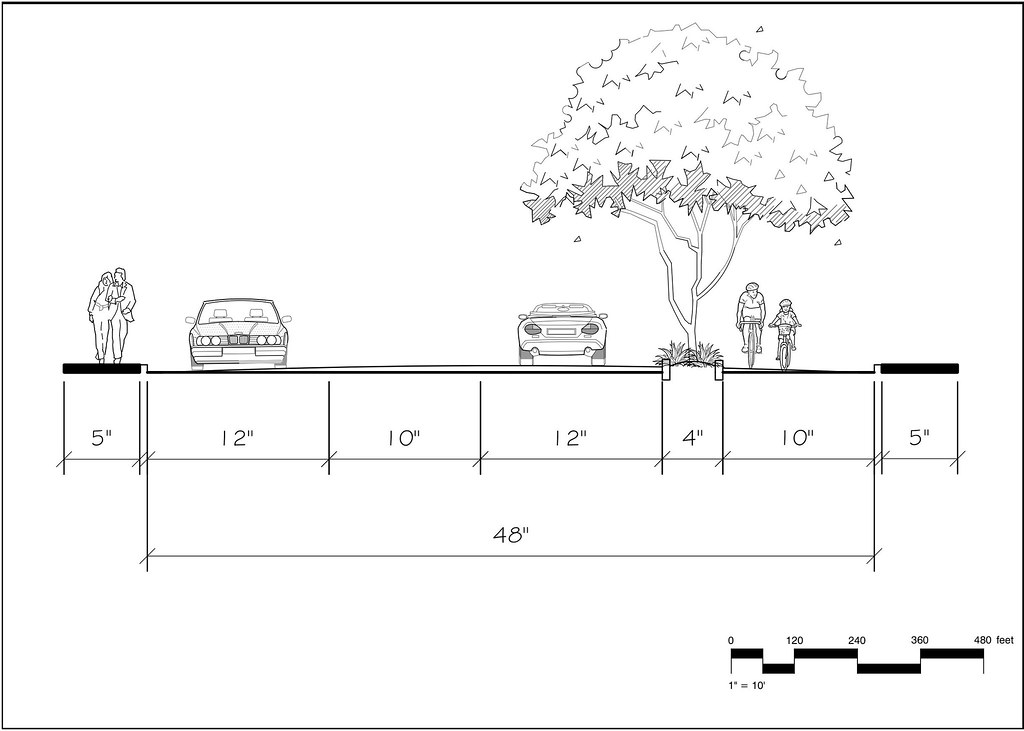 Complete Street Cross Section Example By Chris Lambka