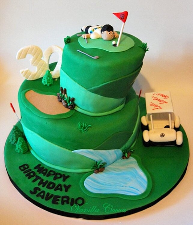 Cake Designs Golf Birthday Kustura for