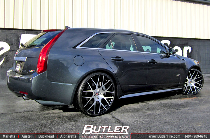 Cadillac Cts V Wagon With 22in Mht Monotec T03 Wheels Flickr