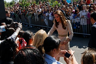 Kate Greets the Crowed in Yellowknife | by Jason Simpson