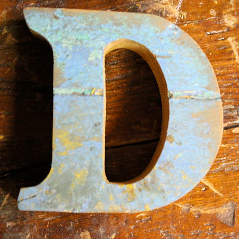 Letter D Beach Decor Vintage Nautical Wooden By Seastyle