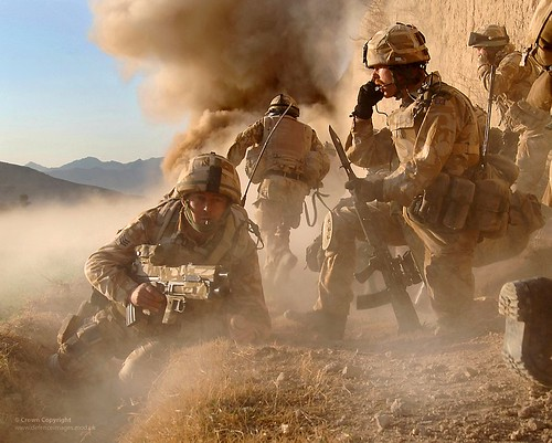 Royal Marines in Afghanistan Storm a Taliban Compound in 2007 | by Defence Images