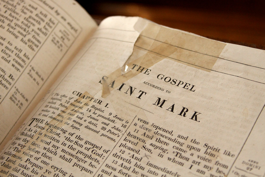 Well Used Book Of The Bible The Gospel Saint Mark Flickr