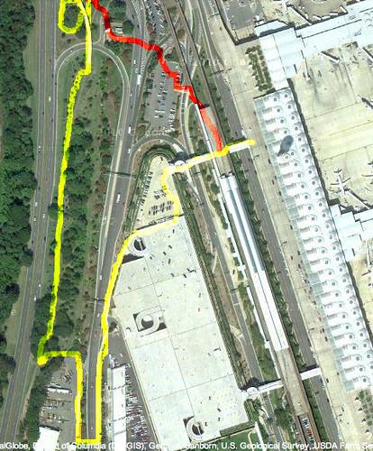 DCA Walk/bike Access Route