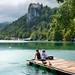 Enjoying the overwhelming beauty of Bled