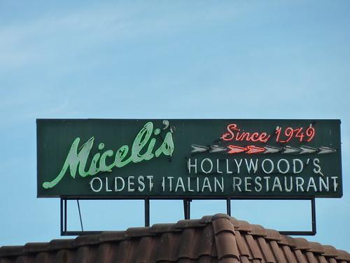 Neon sign for Miceli's Hollywood's Oldest Italian Restaura ...