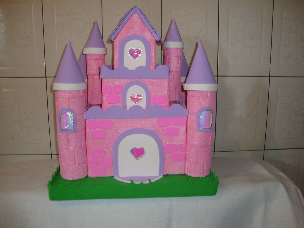 Castelo de princesa castelo feito em isopor e eva - Casas de princesas ...