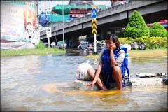 A sad flood victim