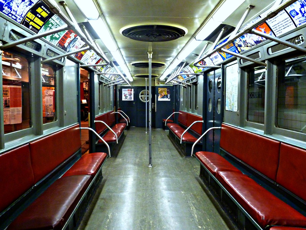 nyc transit museum 1940s subway car i think this car is flickr. Black Bedroom Furniture Sets. Home Design Ideas