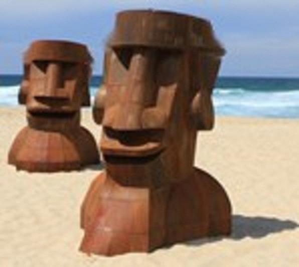 """esculturas imposibles """"La pareja"""""""