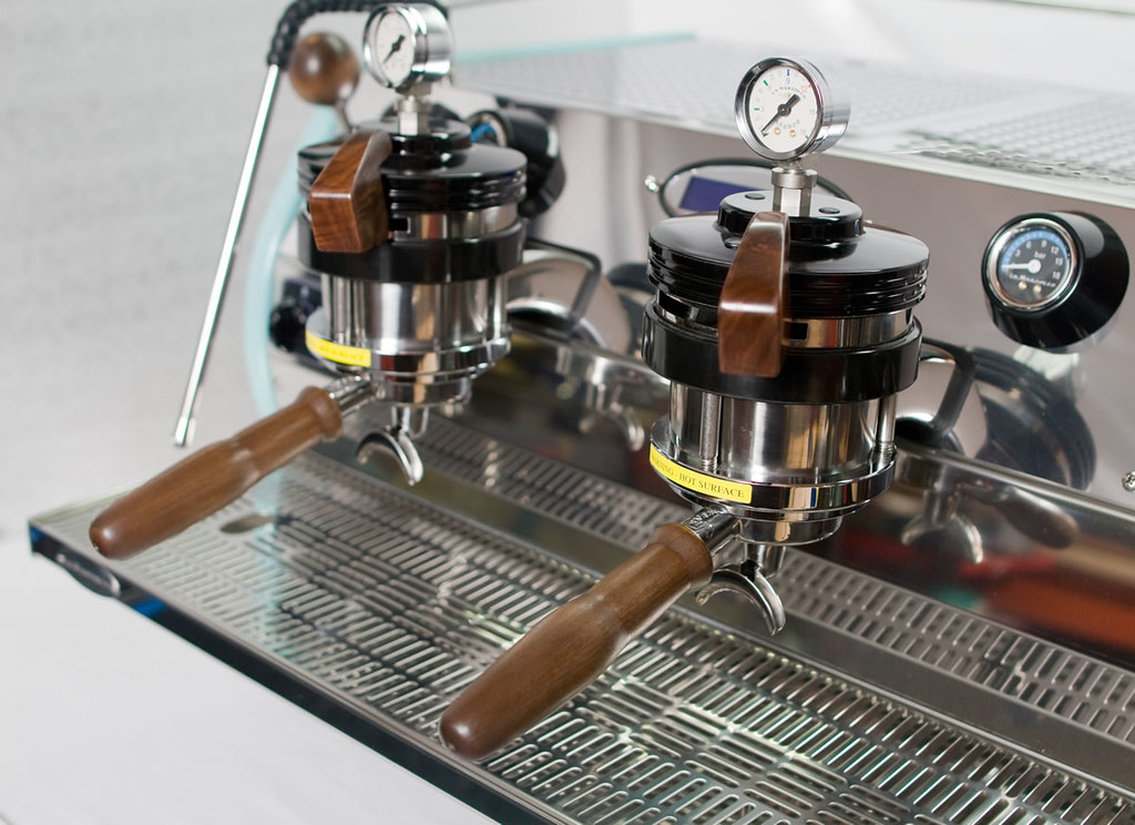 single origin 39 s custom la marzocco strada courtesy of espr. Black Bedroom Furniture Sets. Home Design Ideas