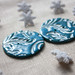 New buttons: shimmery teal blue