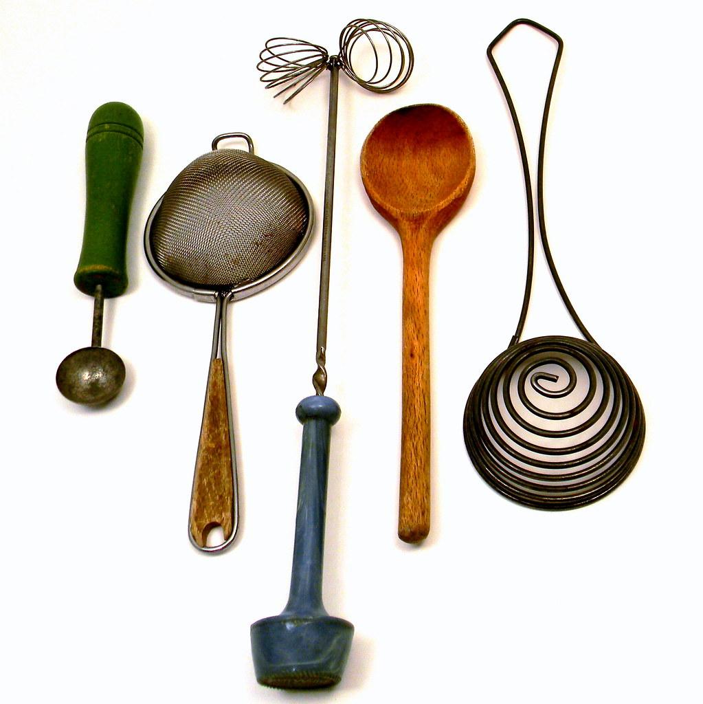 Primitive Vintage Kitchen Utensils