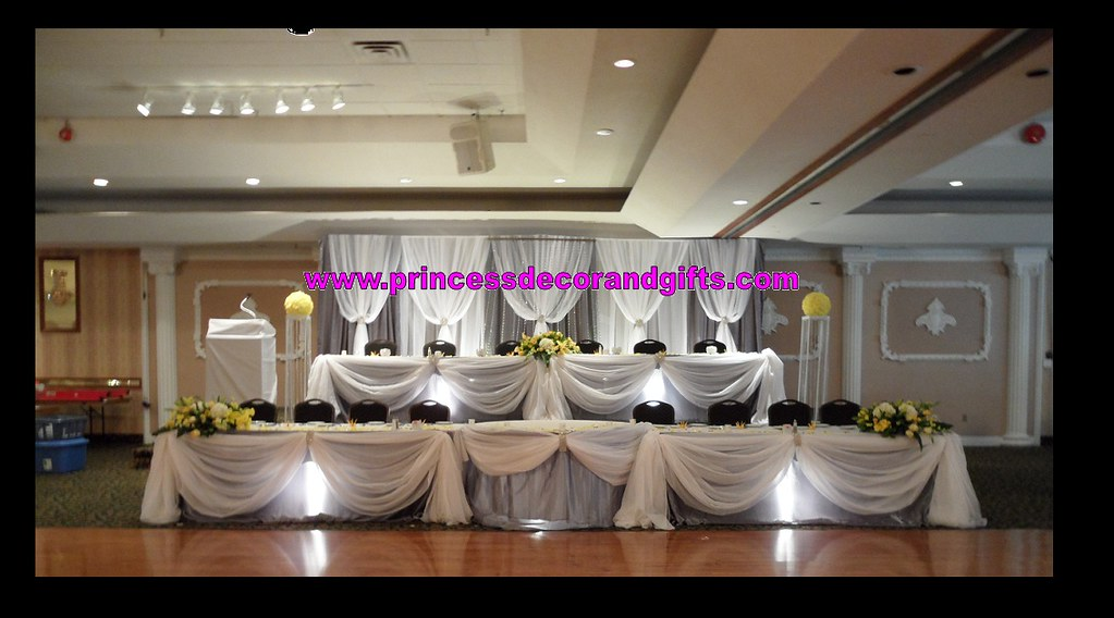 Platinum Silver White Backdrop Wedding Decor Head Tabl Flickr