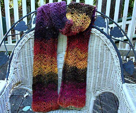 Bernat Mosaic Yarn Free Crochet Patterns : Bernat Mosaic scarf This is made with Bernat Mosaic yarn ...