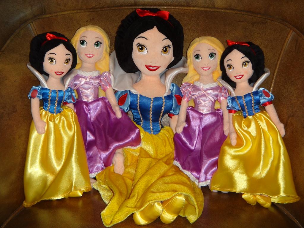 Mini Plush Princess Dolls