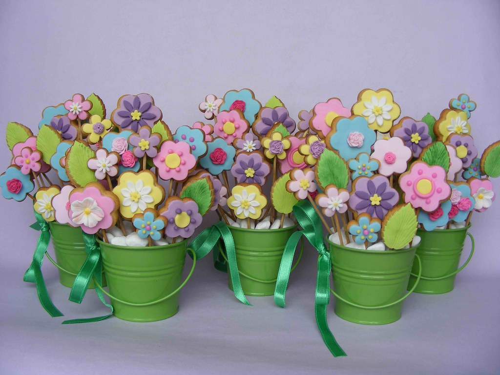 Cookie flower bouquets   I\'ve made these for my sons\' teache…   Flickr