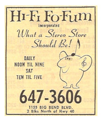 1979 Hi-Fi Fo-Fum Yellow Pages Ad