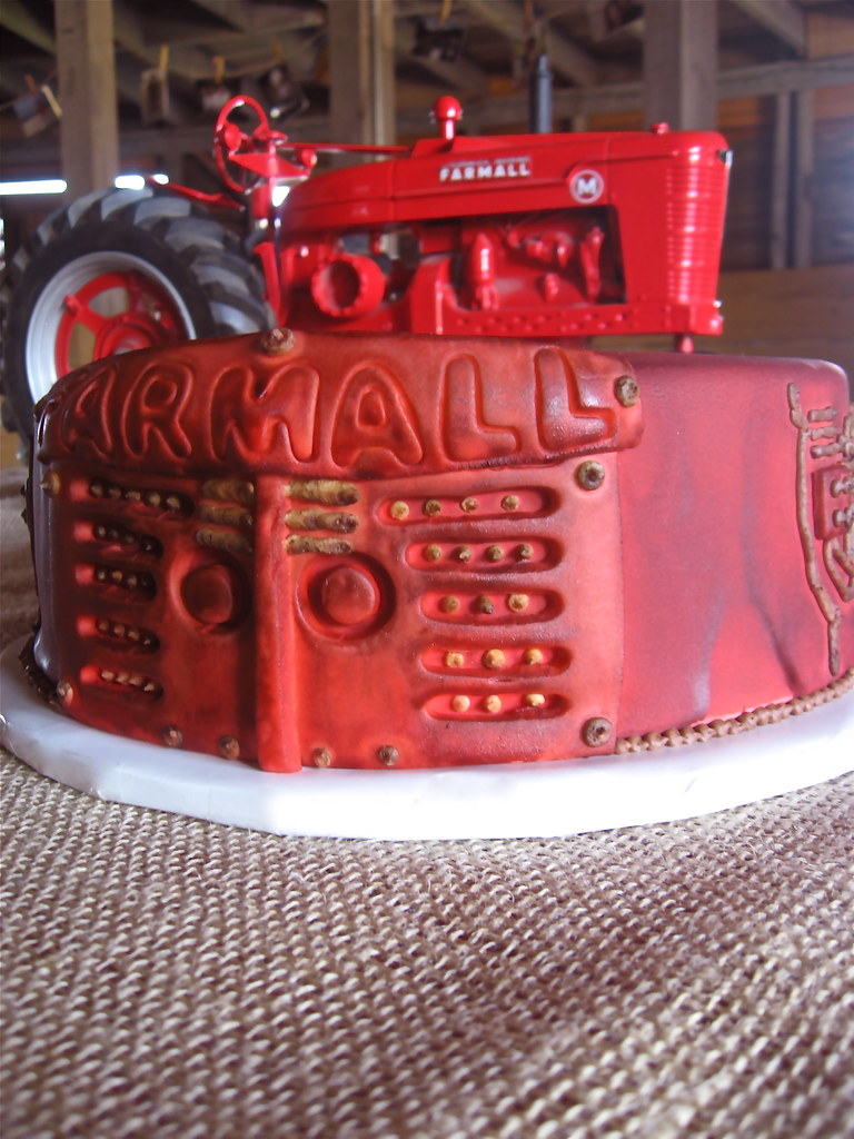 Farmall Tractor Cake Groom S Cake In Butter Yellow