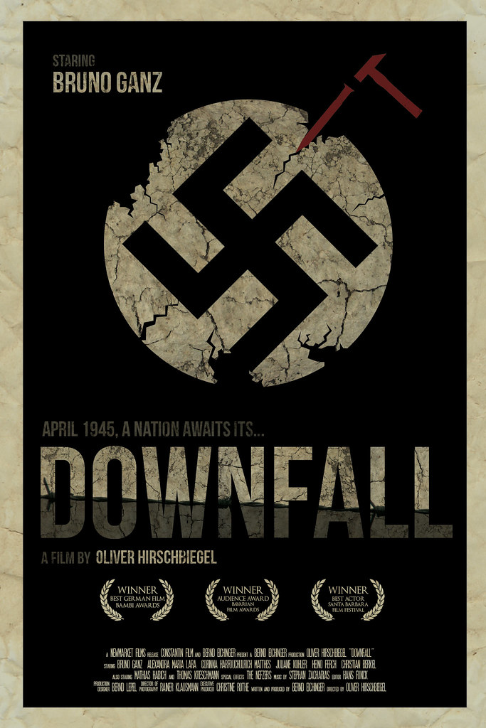 downfall movie Downfall in april of 1945, germany stands at the brink of defeat with the soviet armies closing in from the west and south in berlin, capital of the third reich, adolf hitler proclaims that germany will still achieve victory and orders his generals and advisers to fight to the last man.