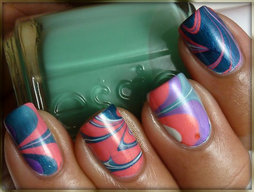 Day 20: Water Marbling | by NailsandNoms